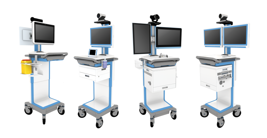 4 telemedicine carts (Custom)