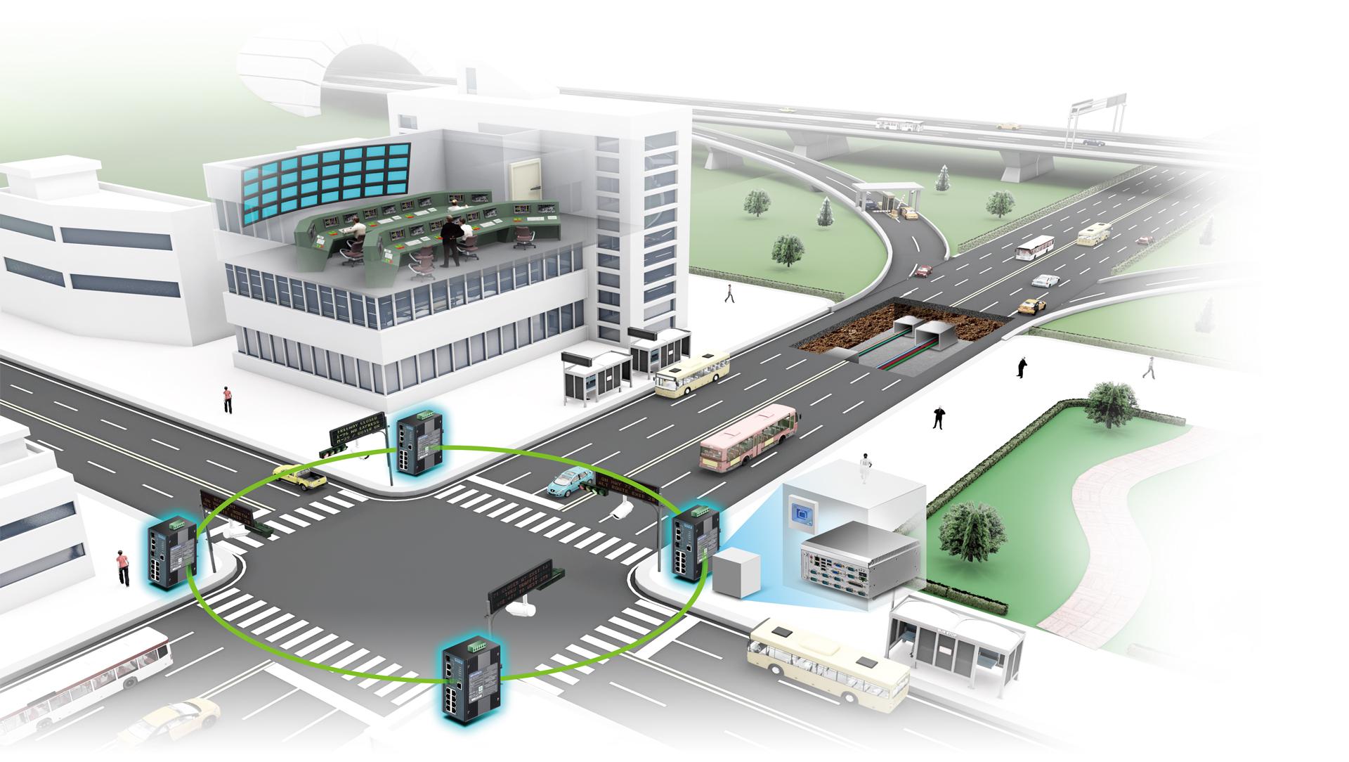 도시 교통 관리 시스템 구성