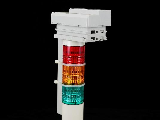 3色信号灯(Φ40) 取付例